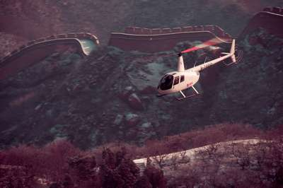 30mins helicopter tour around the Badaling Great Wall and the Wild Duck Lake wetland park (highly re